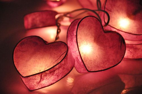 heart string lights etsy