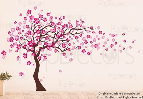 blossom tree wall decal etsy