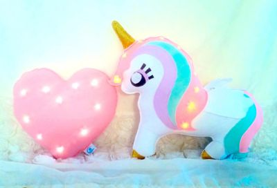 unicorn light pillow