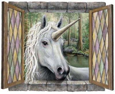 unicorn window wall sticker