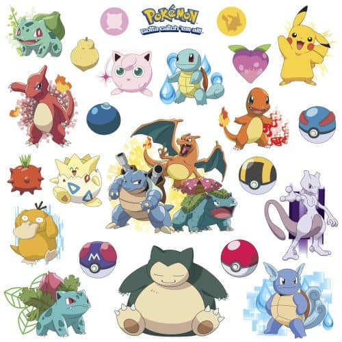 pokemon wall sticker collection