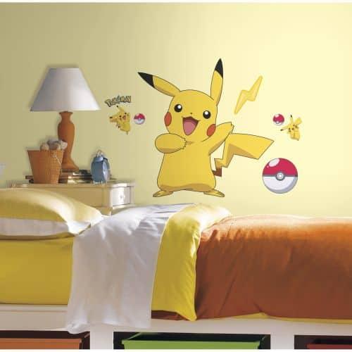 pokemon wall sticker pikachu