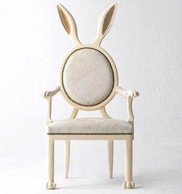 alice white rabbit chair
