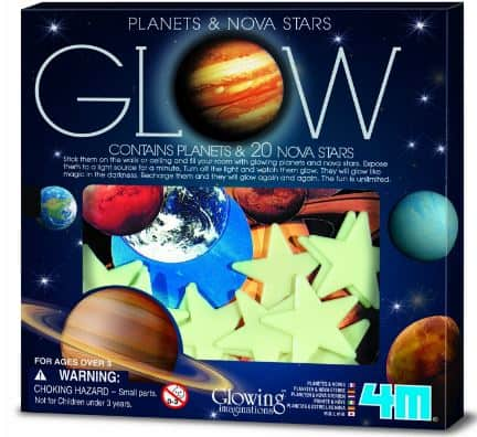 glow in the dark planets and stars space themed