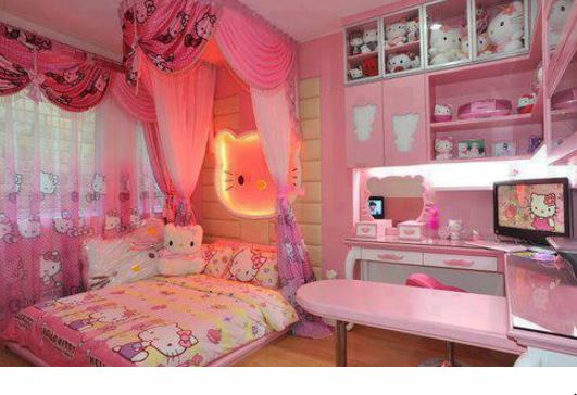 hello kitty bedroom for a little girl!