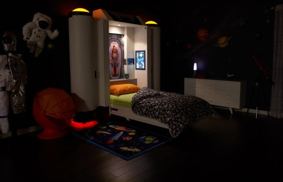 space themed bedroom bed