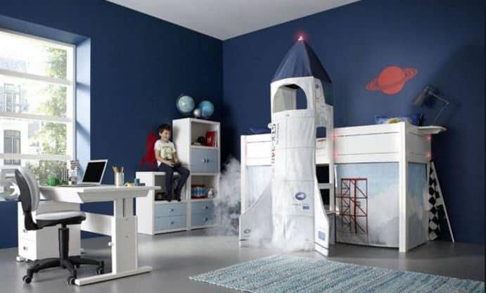 Space Themed Bedroom Ideas Wall Art Kids
