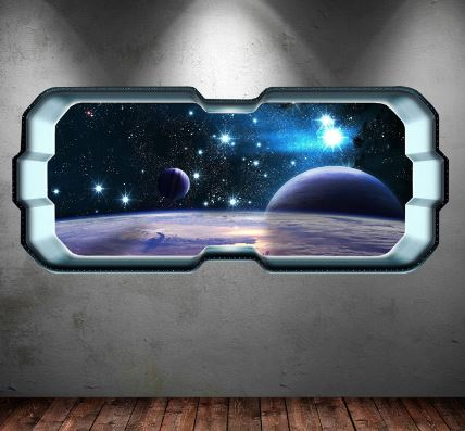 space wall sticker space themed room