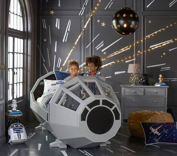 star wars bed space themed bedroom