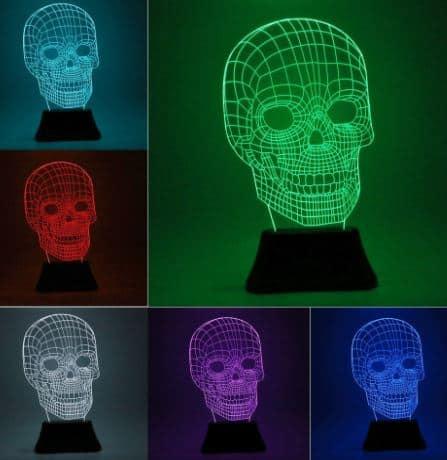 3d skull light