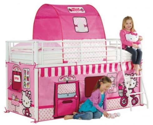 hello kitty cabin tent bed