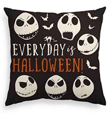 nightmare before christmas pillow, halloween bedroom ideas