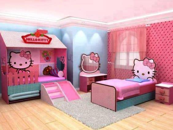 hello kitty bedroom slide