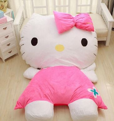 Extra Large Hello Kitty sofa bed sleeping bag!