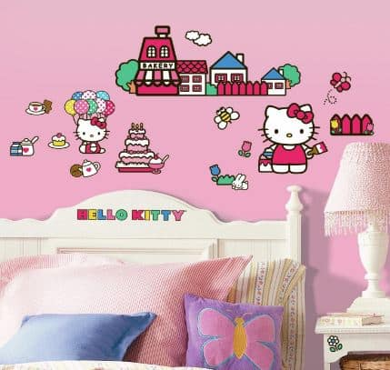 Hello Kitty Wall Sticker Set!