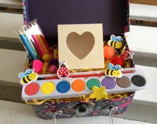 suitcase art craft set