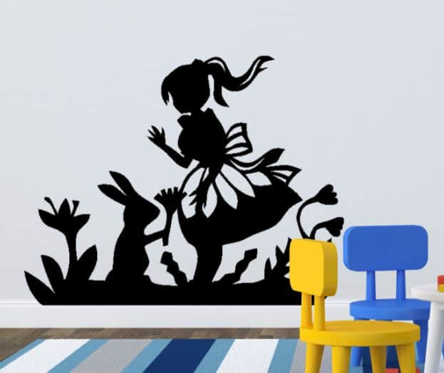 Etonnant Alice In Wonderland Wall Decal