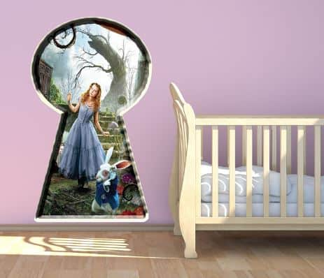 alice in wonderland wall sticker