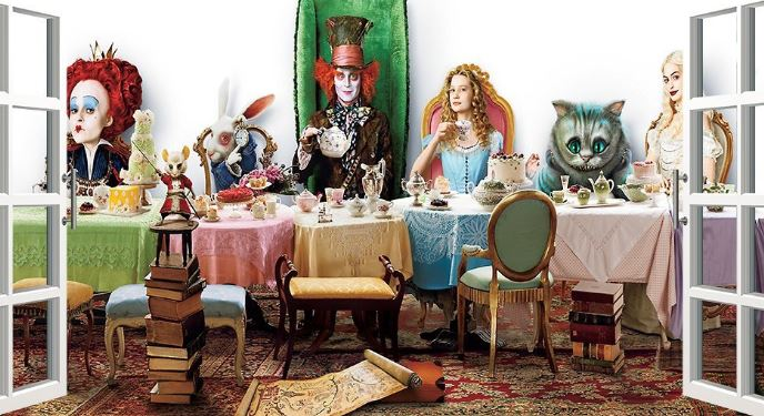 alice in wonderland window