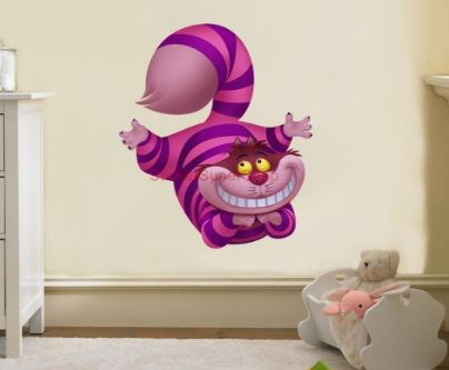 cheshire cat wall sticker