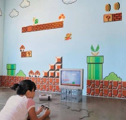 mario bros wall stickers for themed rooms.