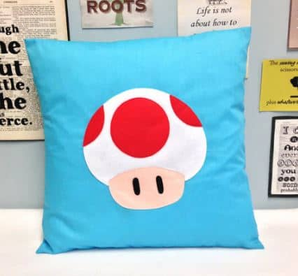 mario bros mushroom cushion, for mario bros bedroom.