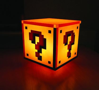 mario bloc light, great for bedroom mario bros.