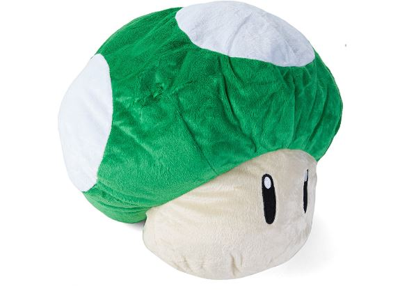 mario bros mushroom cushion plush.