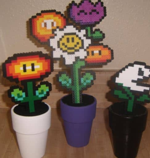 mario bros plants, Mario Bros room decor.