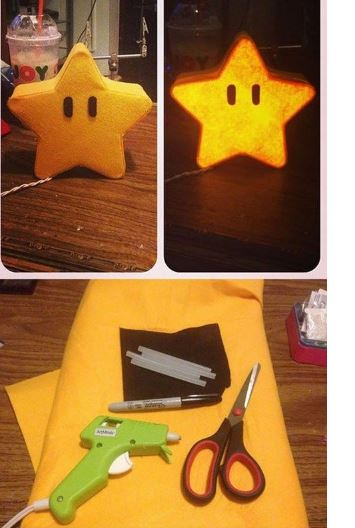 mario bros star light DIY!  For Mario Bros Themed Bedroom!
