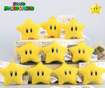 mario bros star selection plush toys!