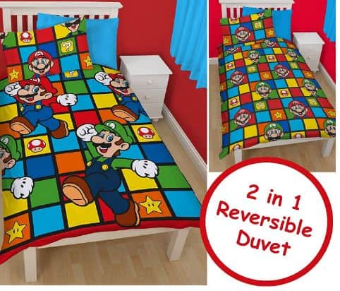 super mario duvet, mario bros bed set.