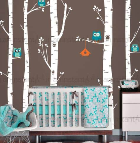 birch tree owl decal!