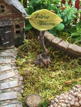 fairies welcome sign, mini fairy sign.