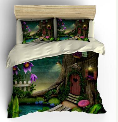 fairy bedset woodland