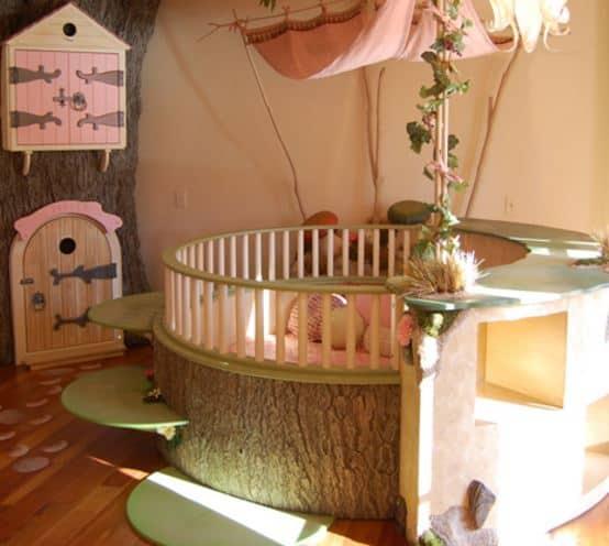 Girls fairy custom bedroom made design in pink