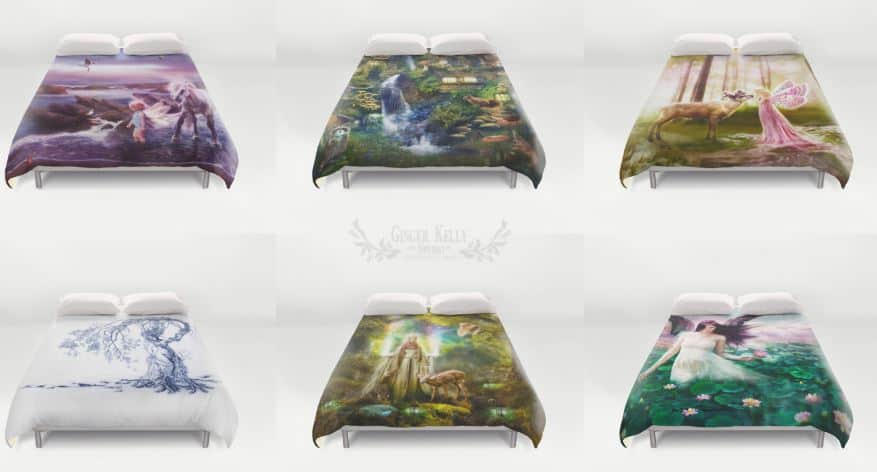 Gorgeous fairy inspired bed sets.
