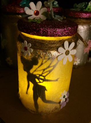 Fairy night light jar.