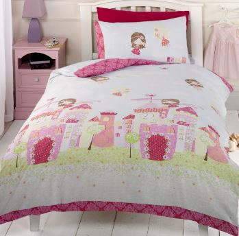Pink Fairy Castle Duvet Set!