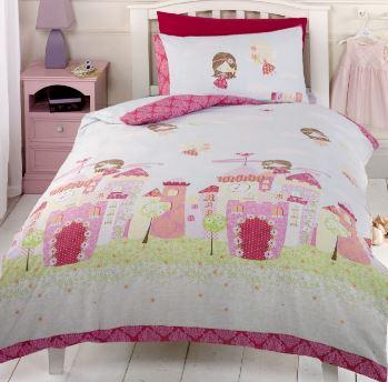 pink fairy castle bedset
