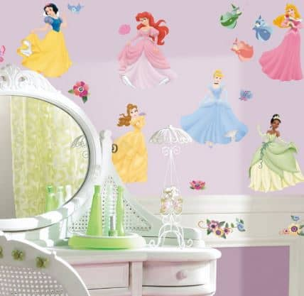 princess wall sticker selection