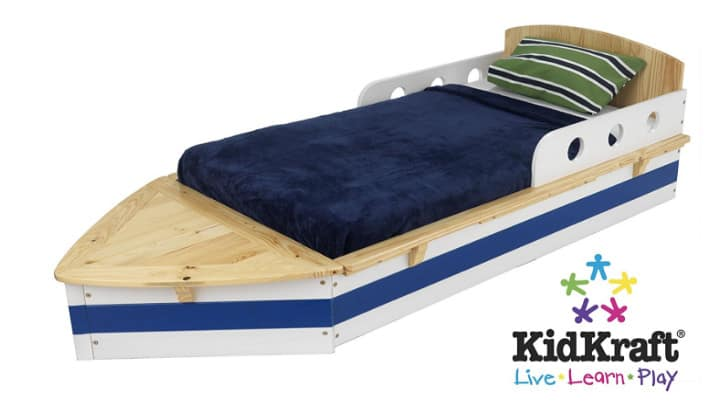 nautical toddler boat bed