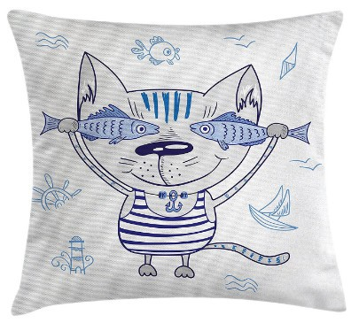 nautical cat cushion
