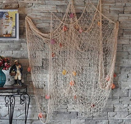 nautical decorative fishing net