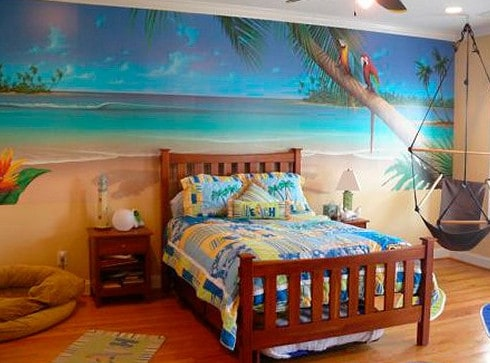 beach themed bedroom decor.