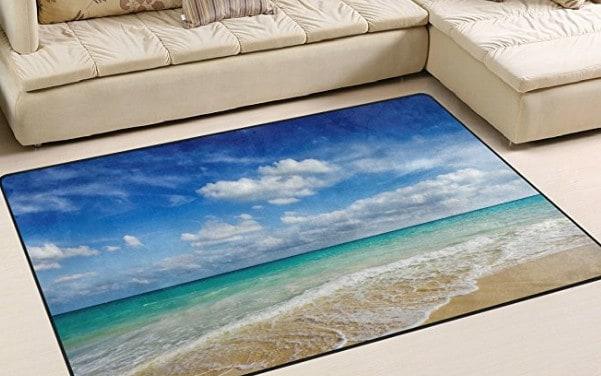 beach themed rug for beach bedroom or theme.