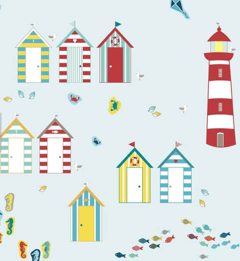 beach wall stickers for beach room.