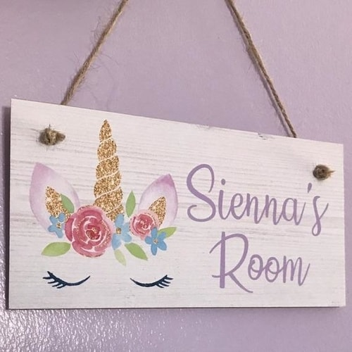 Unicorn Sign For Bedrooms!