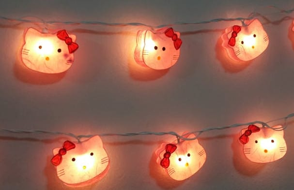 hello kitty string lights