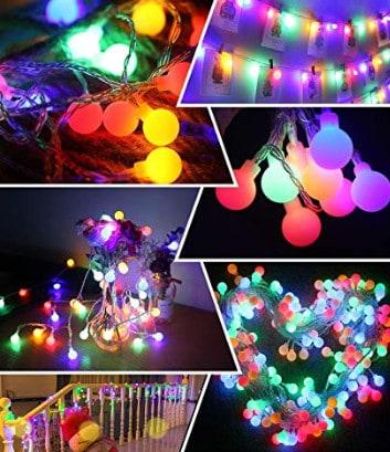 twinkle globe lights